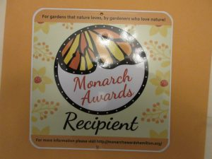 photo of Monarch Award plaque